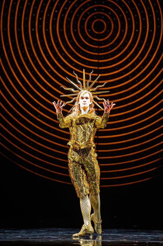 William Bracewell as Louis XIV, Le Roi Soleil, in The King DancesPhoto Bill Cooper
