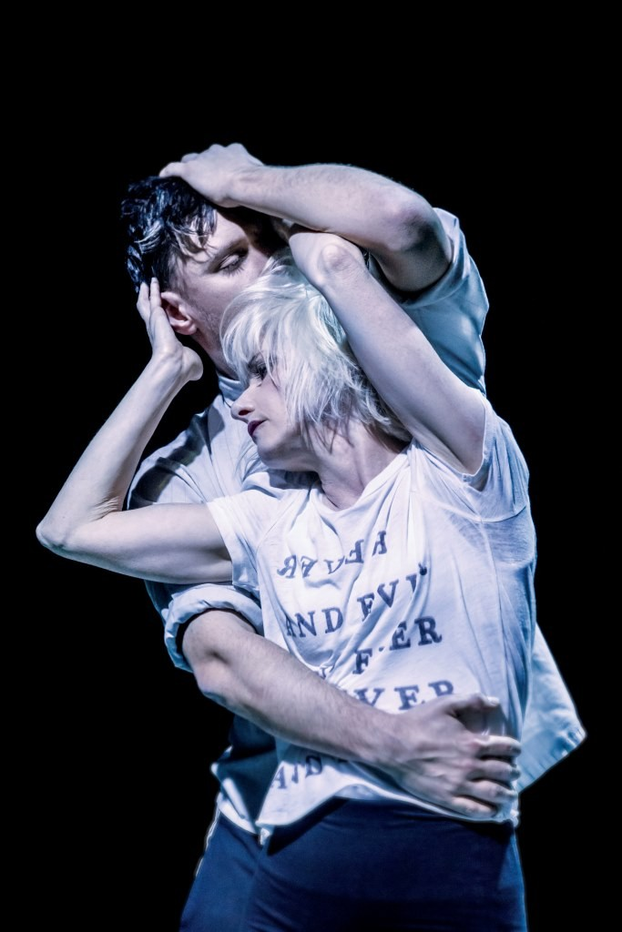 Jane Horrocks and Conor Doyle in If You Kiss Me, Kiss Me Photo Johan Persson