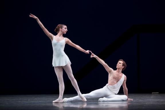 Sasha Mukhamedov and Artur Shesterikov in Apollon MusagetePhoto: Angela Sterling