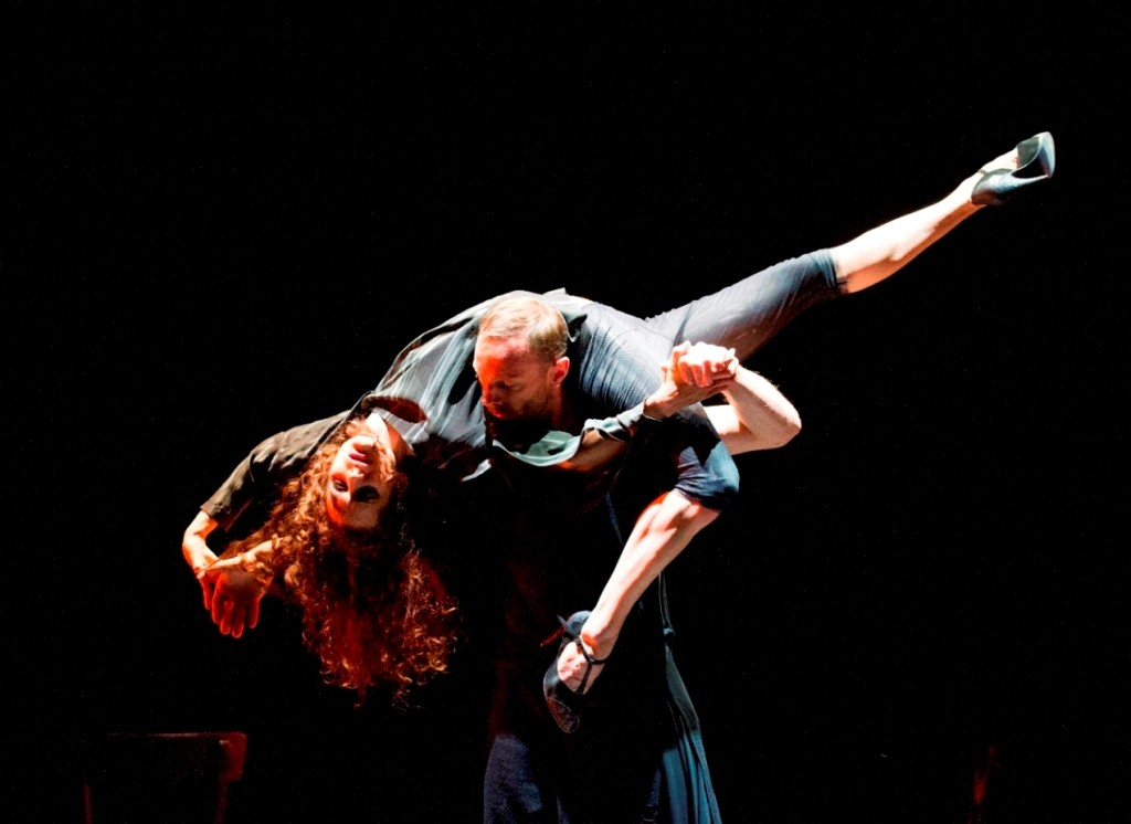 Silvina Cortés and Damien Fournier in MilongaPhoto Tristram Kenton