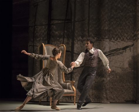 Javier Torres as Mr Rochester, here with Dreda Blow as Jane Eyre, in Cathy Marston's Jane EyrePhoto Emma Kauldhar