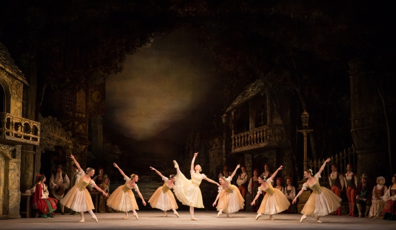 Elisha Willis as Swanilda with Artists of Birmingham Royal Ballet in Sir Peter Wright's CoppéliaPhoto Andrew Ross