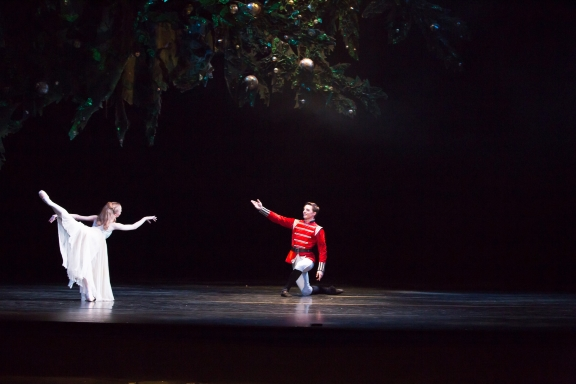 Sir Peter wright's The Nutcracker for Birmingham Royal Ballet(dancers: Karla Doorbar as Clara and Joseph Caley as the Prince)Photo Andrew Ross