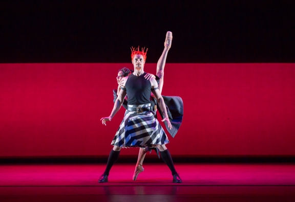 Iain Mackay as Macbeth and Céline Gittens as Lady Macbeth in The Shakespeare SuitePhoto Andrew Ross