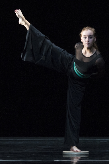 A dancer from Glasgow Clyde College at Rambert ElementsFotieni Christofilopoulou