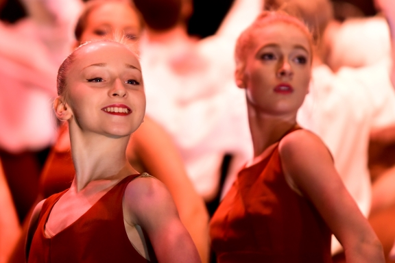 Year 10 students in Dance of Deity by Paul James RooneyPhoto Michelle Nyulassie