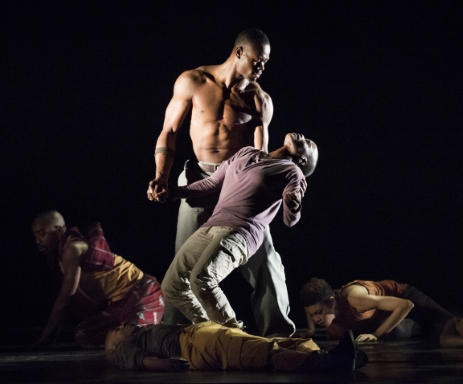 Alvin Ailey American Dance Theater in Exodus by Rennie HarrisPhoto Paul Kolnik