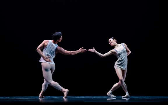 Qian Liu (right) and Young Gyu Choi in Episodes of Fragments by Tor van SchaykPhoto Altin Kaftira