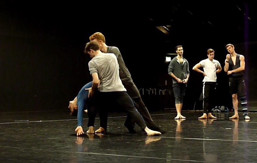 New English Ballet Theatre rehearse George Williamson's Strangers<br/>Photo David Mead