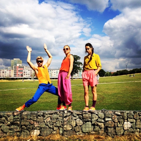 Lewis Wilkins, Rachele Rapisardi and Sophia Preidel in Bunny Dance by Quang Kien Van,a Royal Court Theatre commission for Summer Events in Tottenham 2015Photo Quang Kien Van