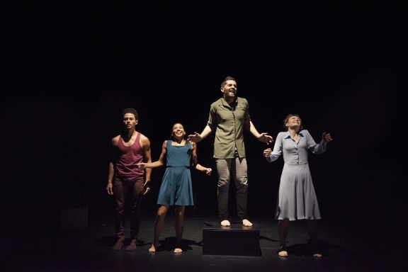 Dance Hurst, Estela Merlos, Mathieu Geffré and Hannah Kidd in The Happiness ProjectPhoto Chris Nash