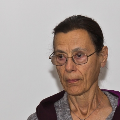Yvonne Rainer at the Press conference to open the exhibition Yvonne Rainer – Raum, Körper, Sprache at the Museum Ludwig, Köln in 2012Photo Raimond Spekking