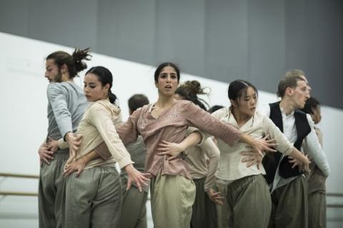 Requiem For Aleppo in rehearsalPhoto Helen Maybank