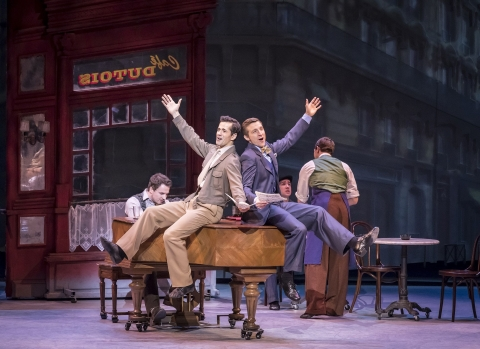 From left, David Seadon-Young, Robert Fairchild and Haydn Oakley in An American in ParisJohan Persson