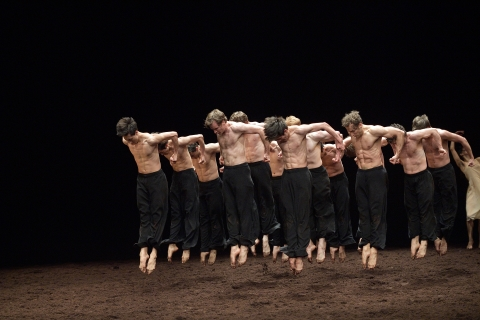 English National Ballet in Pina Bausch's Le Sacre du PrintempsPhoto Laurent Liotardo