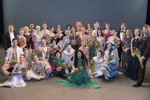 Some of the world's greatest dancers gather after the Russian Ballet Icons Gala in LondonPhoto Marc Haegeman