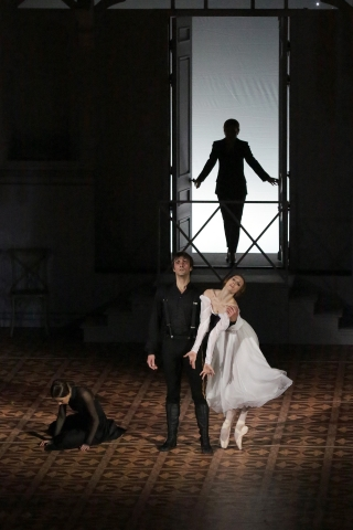 Svetlana Zakharova (Mary), Ruslan Skvortsov (Pechorin) and Krisitina Kretova (Ver) in A Hero of Our TimePhoto Damir Yusupov