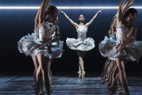 Desislava Stoeva and artists of the Royal Swedish Ballet in The Dream of Swan LakePhoto Carl Thorberg