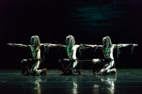 Daniel Davidson, Liam Francis and Juan Gil in Ghost DancesPhoto Jane Hobson