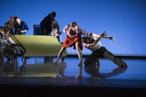 Lucy Balfour and Liam Francis in The days run away like wild horsesPhoto Ellie Kurtz