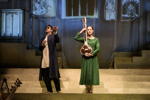 Susanna Hurrell as Sukanya and Alok Kumar as ChyavanaPhoto ROH/Bill Cooper