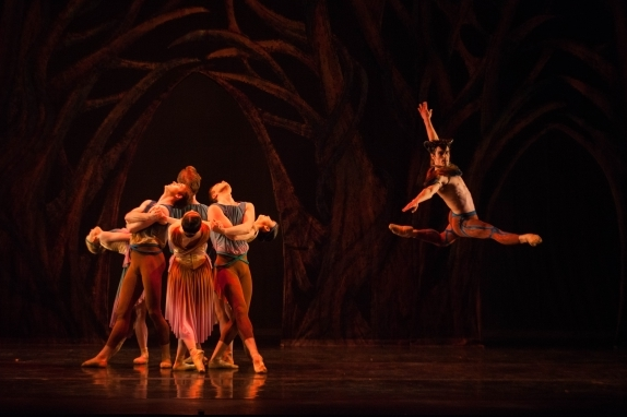 Brandon Lawrence as Pan with Birmingham Royal Ballet in Ruth Brill's new ArcadiaPhoto Ty Singleton