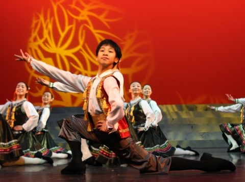 Cun Wing aged about 9 in a character dance in Stars of Tomorrow by the Jean M Wong School of Dance in Hong KongPhoto courtesy Chun Wing Lam