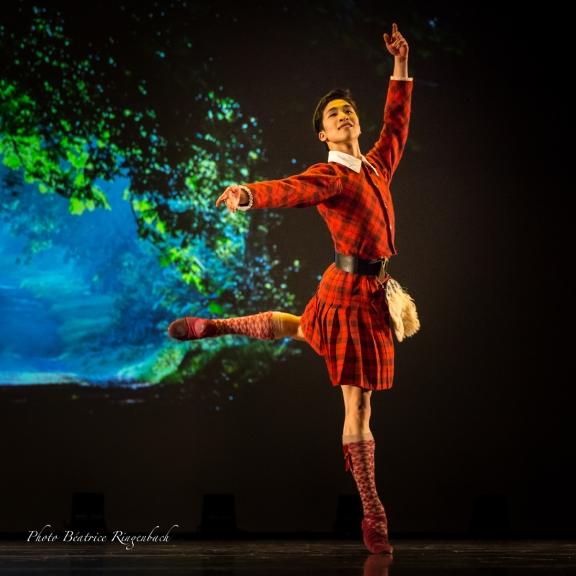 Chun Wing Lam in La Sylphide in a gala<br/>in Cenon, near Bordeaux in January 2016 Photo Béatrice Ringenbach
