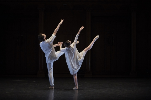 Ambre Chiarcosso and Paul Marque in Benjamin Millepied's La nuit s'achèvePhoto Danny J Peace