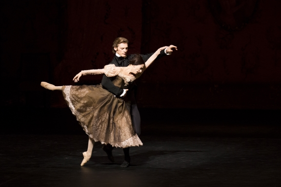 Edvin Revazov and Alessandra Ferri in the final duet from John Cranko's OneginPhoto Kiran West