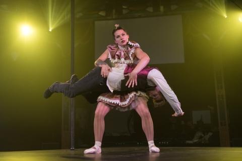 Tessa Blackman (Coppélia) and Josh Frazer (Dr Coppélius) in CoppéliaPhoto Roberto Riciutti