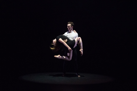 National Youth Ballet dancers Oliver Selwood and Emily Galvin in their own Without the LightsPhoto Sean Purser