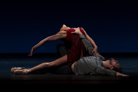 Courtney Richardson and James Stout in David Dawson's Tristan + IsoldePhoto Michel Schnater