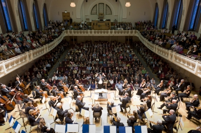 Cadogan Hall set for a music concertPhoto Alex MacNaughton
