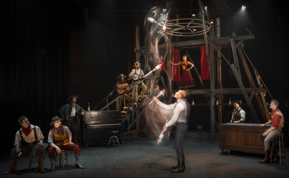 High octane action as circus meets the Wild West in Cirque Éloize's Saloon