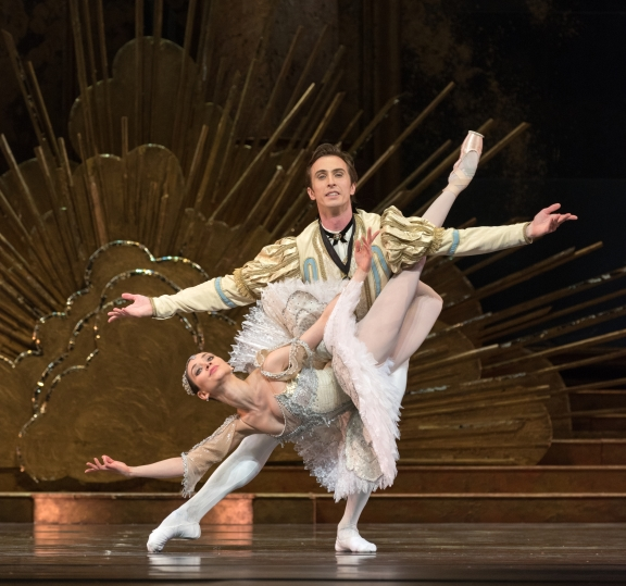 Dutch National Ballet in The Sleeping Beauty(here with Anna Öl as Aurora and Artur Shesterikov as Florimund)Phoro Marc Haegeman