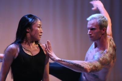 Peiju Chien-Pott with Ben Schultz in rehearsal for Martha Graham's The Rite of SpringPhoto Melissa Sherwood