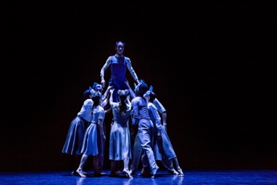 Xin Ying (above) and ensemble in Pontus Lidberg's WoodlandPhoto Brigid Pierce