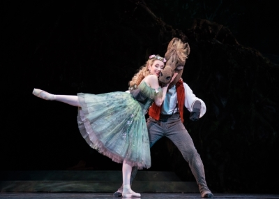Anna Merkulova as Titania and Alejandro Martinez as Bottom in Frederick Ashton's The DreamPhoto Ian Whalen