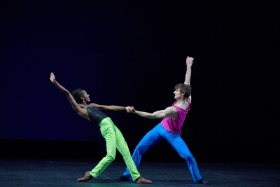 Precious Adams and Aaron Robisonin Approximate Sonata by William ForsythePhoto Laurent Liotardo