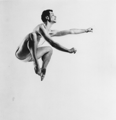 Merce Cunningham in Sixteen Dances for Soloist and Company of Three (1952)Photo Gerda Peterich