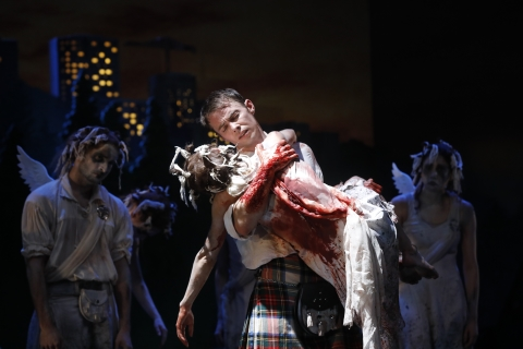 Scottish Ballet's Sophie Martin a wonderfully prickly, mischievous Sylph in Matthew Bourne's Highland Fling
