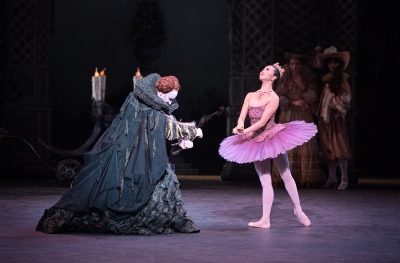 James Streeter as Carabosse and Shiori Kase as the Lilac FairyPhoto Laurent Liotardo