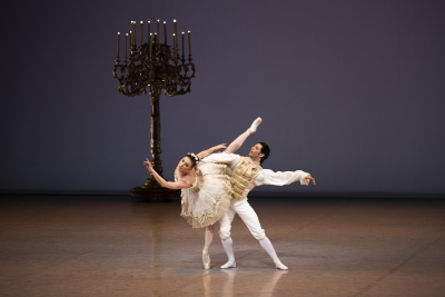 Tiler Peck and Herman Cornejo in Alexei Ratmansky's reconstructed The Sleeping BeautyPhoto Kiran West