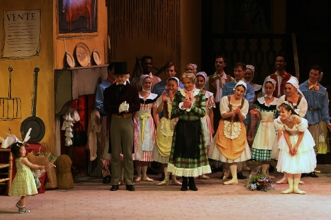Nao's daughter, Karen, presents a bouquet after her mother's final performance in La Fille mal gardéePhoto Angela Kase