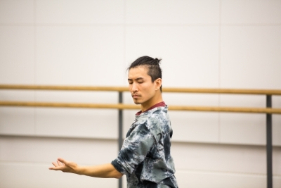 Chi Cao in rehearsal for The Moor's PavanePhoto Andrew Ross