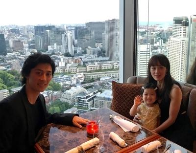 Nao Sakuma with husband Yasuo Atsuji and daughter KarenPhoto courtesy Nao Sakuma