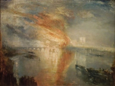 The Burning of the Houses of Lords and Commons by Joseph Mallord William Turner (1832)Photo Wikicommons