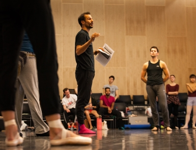 Juanjo Arqués and Artists of Birmingham Royal Ballet in rehearsal for IgnitePhoto Ty Singleton
