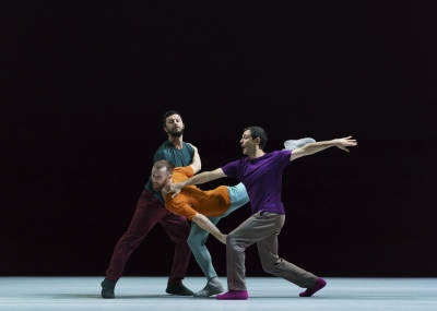 William Forsythe's Seventeen Twenty-One, part of A Quiet Evening of Dancewith Brigel Gjorka, Riley Watts and Ander Zabala GomezPhoto Bill Cooper